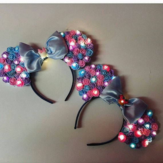 Light Up Floral Ears by EarsbySamantha on Etsy