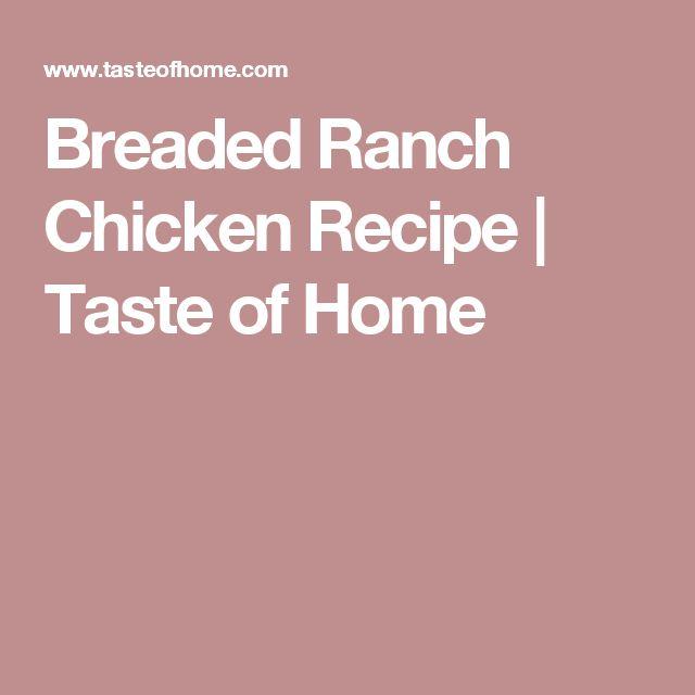 Breaded Ranch Chicken Recipe | Taste of Home
