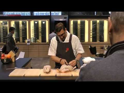 Top Chef Masters Winner Chris Cosentino of Incanto Restaurant in San Francisco showcases proper butchering techniques of a chicken and duck using the new Shun Blue Honesuki in the line of kitchen cutlery which he co-developed with Shun Cutlery. Shun Blue is made with carbon blue steel, and is available at http://shun.kaiusaltd.com Part 1 of 3