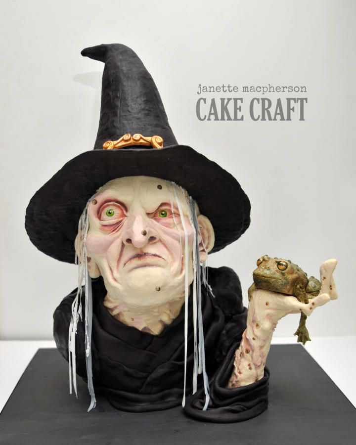Witch for Cake & Bake Show 2014 - Cake by Janette MacPherson Cake Craft | CakesDecor.com