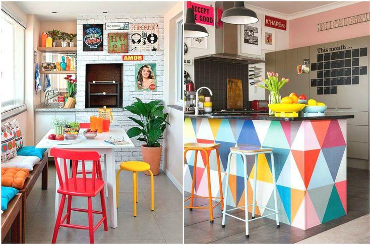 Стиль поп-арт в интерьере кухни #interior #мебель #дизайн #интерьер #дом #уют #декор