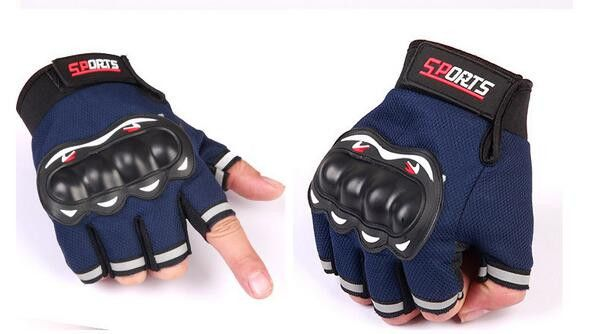 Outdoor sport Glove real Leather half Finger moto men Motorcycle Gloves Motorcycle Protective Gears Motocross Glove
