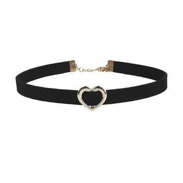 3d63306a36b1e Wild Temperament Choker Necklace Vintage Heart Black Collar Neck ...