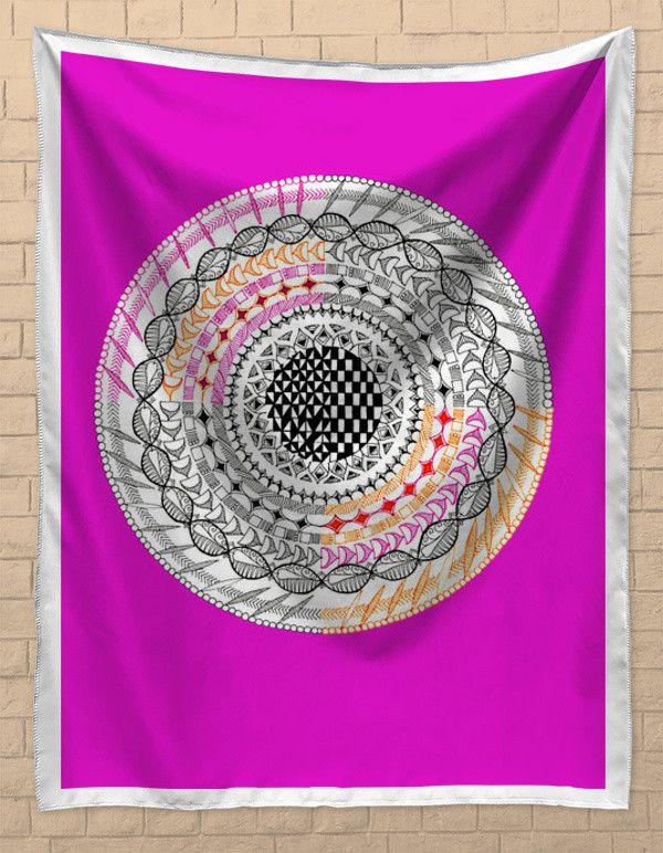 Colourful Geometric Mandala Tapestries   Artist : Amulya Jayapal   PosterGully
