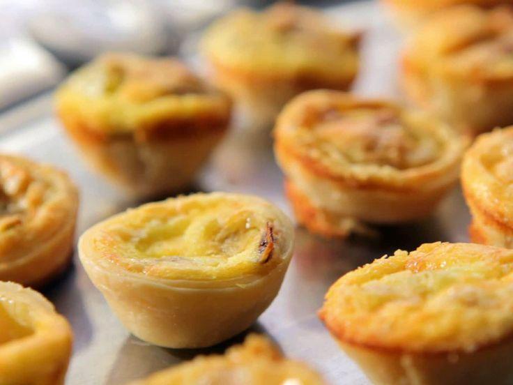 Mini Leek Quiches recipe from Sandra Lee via Food Network