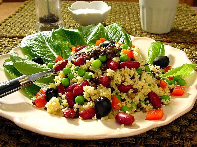 Sallad med hirs, bönor och puy-linser (kock recept.nu)