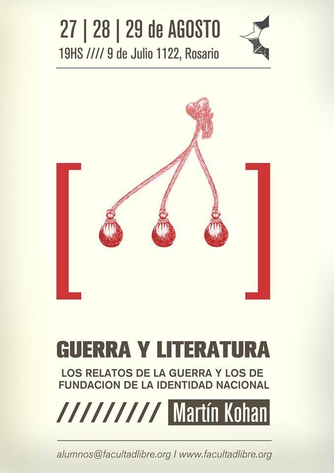 """Marín Kohan arribó a la #Facultad #libre de #rosario para dictar el #seminario """"Guerra y #literatura"""".Es profesor de teoría #literaria en la UBA y el la Universidad de la Patagonia, es escritor y su obra más famosa es la #novela """"#Ciencias morales"""", que fue llevada al cine bajo el nombre """"La mirada invisible"""". Aquí podés ver el programa,la bibliografía y el video del seminario --> http://goo.gl/0XxNKB"""
