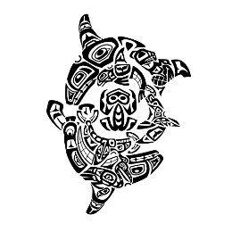Haida killer whales tattoo