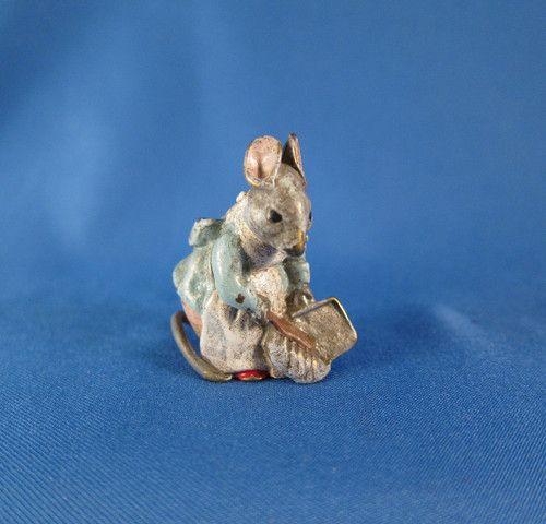 Antique-Cold-Painted-Vienna-Bronze-Beatrix-Potter-Hunca-Munca-Mouse $165