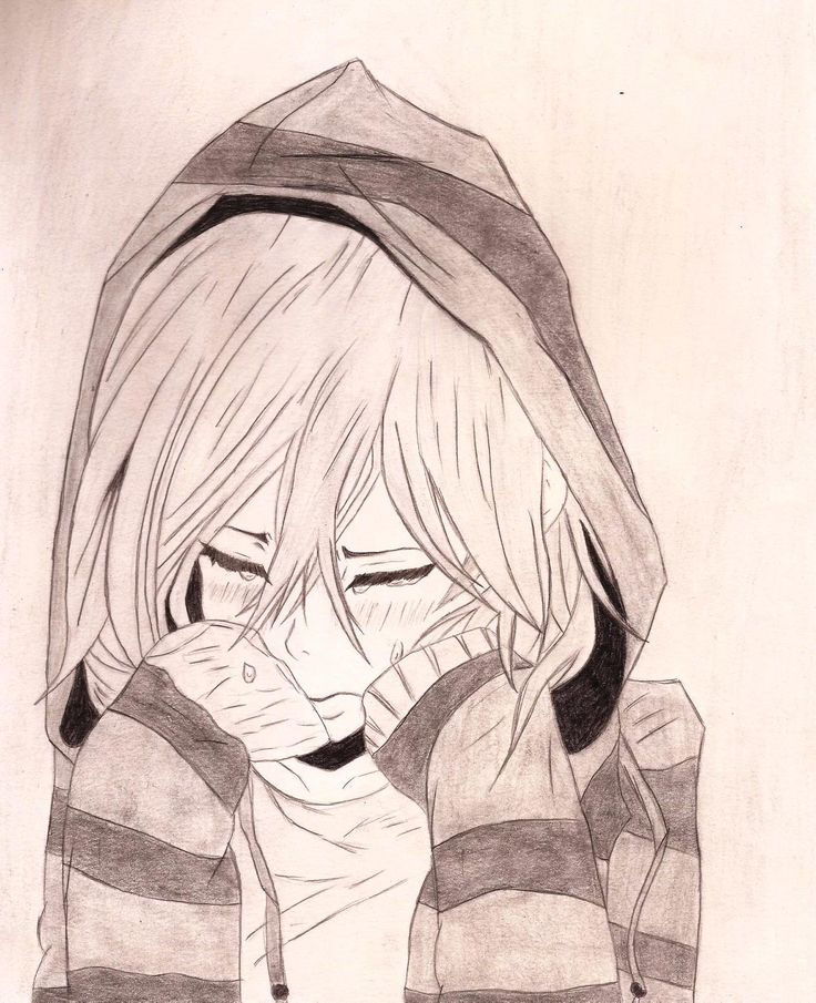 رسومات Crying girl drawing, Anime drawings, Easy drawings