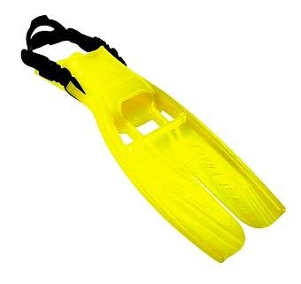 The color is so whimsical!  And practical in low-viz.  Scubapro Twinjet fins in florescent yellow.