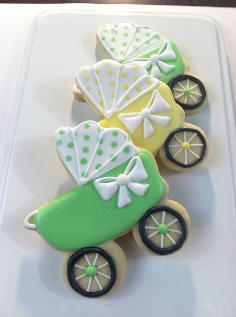 Baby Carriage Cookies - Sugar Beez   Flickr - Photo Sharing!