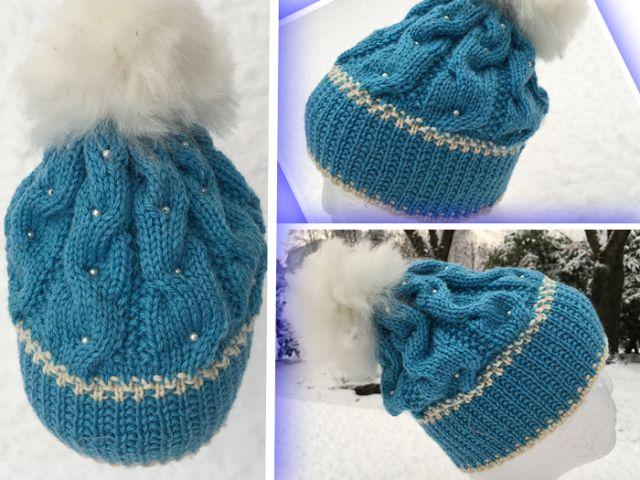 Garnstikka: strikket Lue, Vintervals