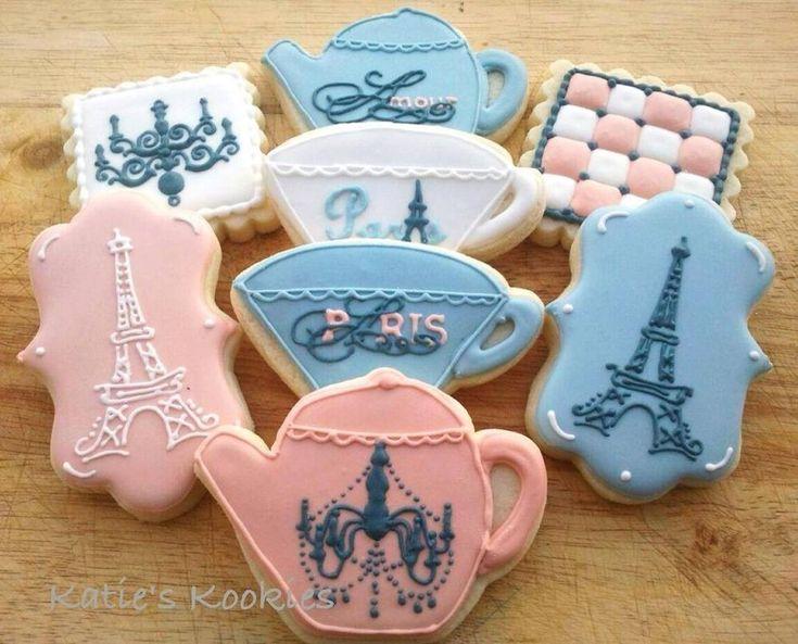 Parisian Tea Party cookies