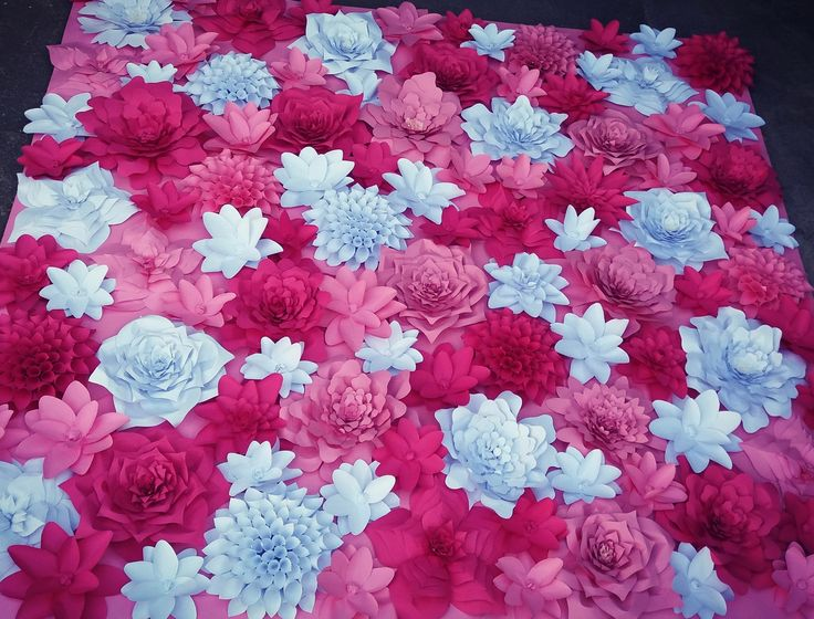 weeding  flovers channel  pink paper flovers