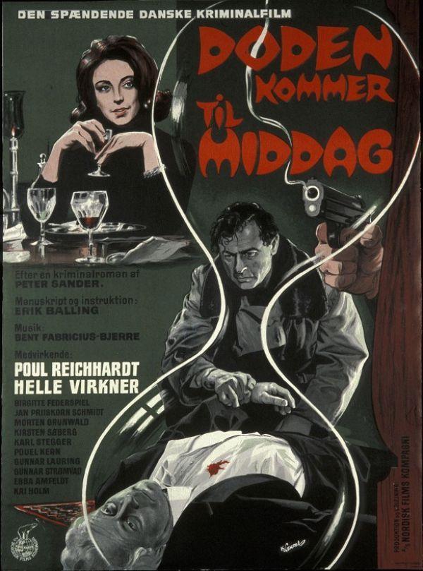 Døden kommer til middag (1964) En krimiforfatter dumper lige ind hvor en mand lige er blevet skudt.