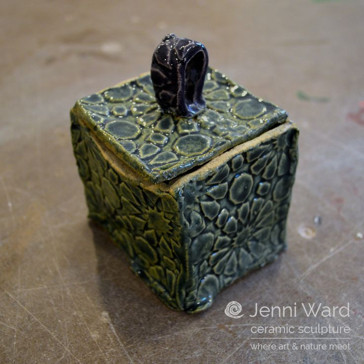 Textured Ceramic Box