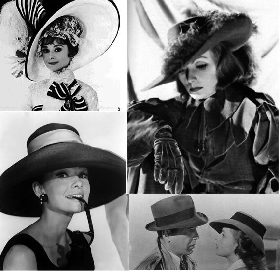 Sombreros de cine: De Audrey Hepburno Lauren Bacall aGreta Garbo o Marilyn Monroe. http://www.rtve.es/n/555289