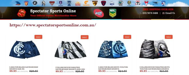 Spectator sports offer you a wide range of AFL jerseys and AFL merchandise, sports equipment, clothing and merchandise for all your favourite football team players. For more details visit https://www.spectatorsportsonline.com.au/