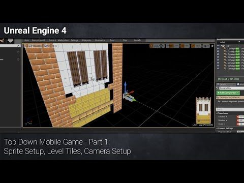 1) [Unreal Engine 4] Top Down Mobile Game - Part 1: Sprite Setup