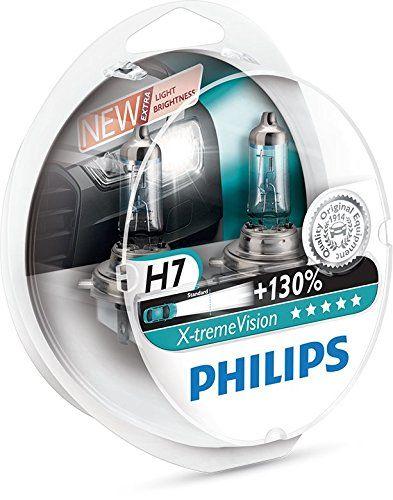 ¡Oferta! Philips X-tremeVision bombilla para faros delanteros. 130% más de brillo! H4 y H7
