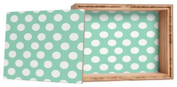 Mintiest Polka Dots Jewelry Box, Small contemporary-jewelry-boxes-and-organizers