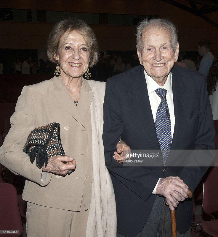 Queen Maxima of the Netherlands parents Maria del Carmen Cerruti and Jorge Zorreguieta attend a conference at the UCA (Universidad Catolica de Buenos Aires) on October 11, 2016 in Buenos Aires, Argentina.