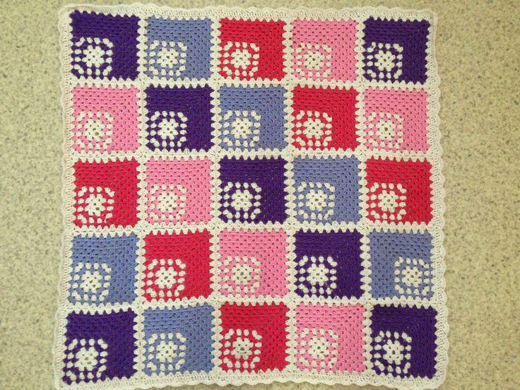 Hæklet tæppe - crochet blanket
