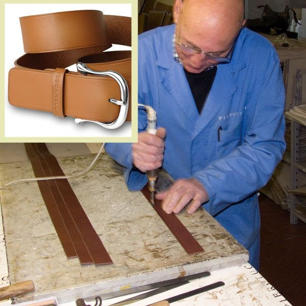 """The #Pierotucci master craftsman adds a decorative line along the edges of this #Toscanella Italian #leatherbelt. This is called """"rigarolo"""" in Italian and requires a very steady hand.  Top quality Italian leather for #pittiuomo2013   http://www.pierotucci.com/men/belts/"""