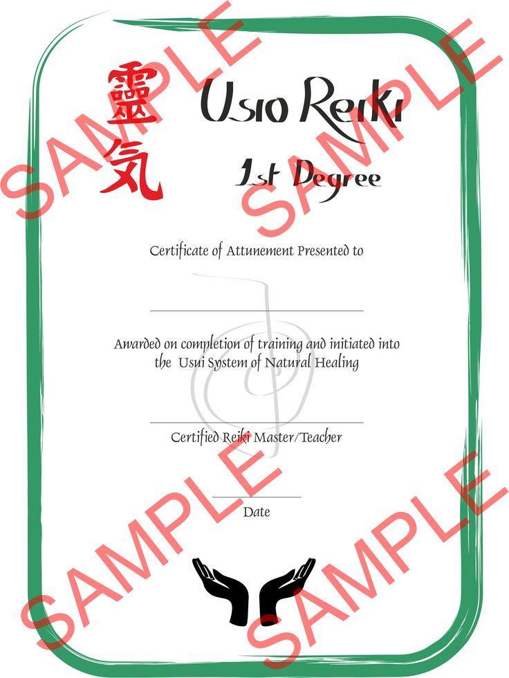 Level 1 certificate borders pinterest for Reiki level 1 certificate template