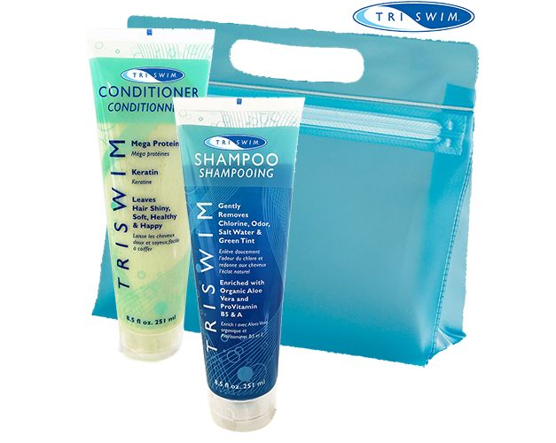 Voor de zwemmer - shampoo en conditioner van Triswim tegen groen haar.