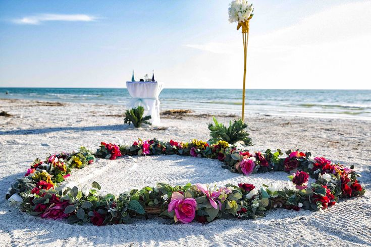 Intimate barefoot beach wedding package st pete