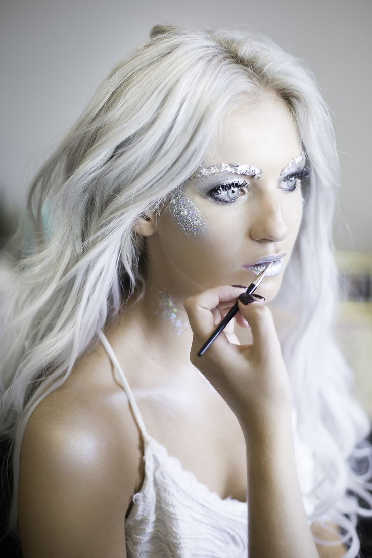 Ice Princess/Ice Witch makeup #icequeen #iceprincess #icewitch #halloweencostume #icequeenmakeup