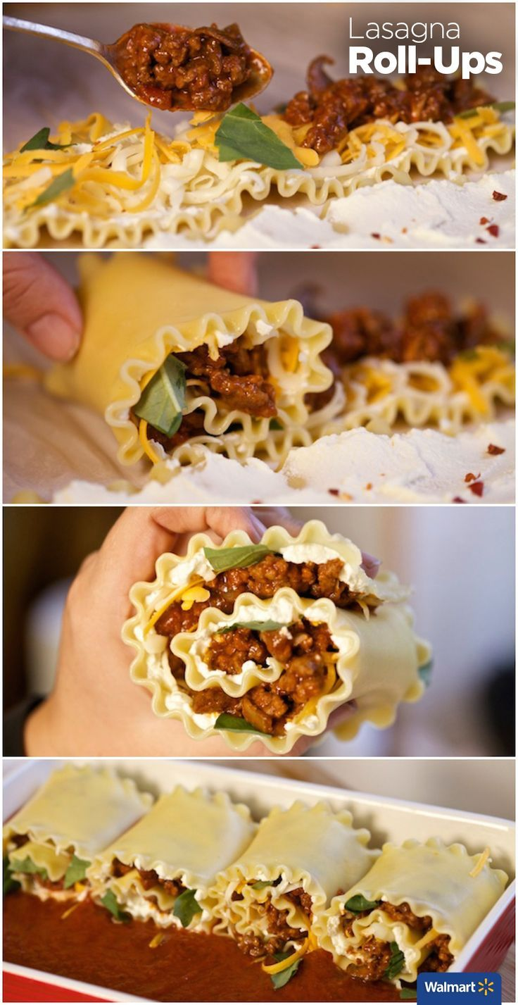 Manwich Lasagna Roll-Ups | Walmart – Put a spin on sloppy joe's with this easy, delicious dinner idea. After cooking the meat and lasagna noodles, let the kids help roll-up all the ingredients into the Lasagna Roll.