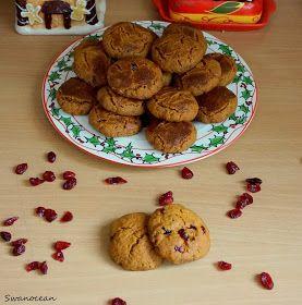 Swanocean: Healthy Christmas cookies with cranberries-Υγιεινά Χριστουγεννιάτικα μπισκότα με κράνμπερις