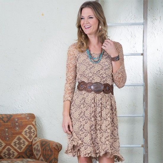 Monterrey+Mocha+Lace+Dress