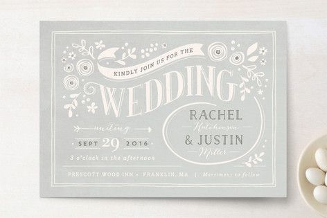 Alabaster Florals Wedding Invitations- love this one!
