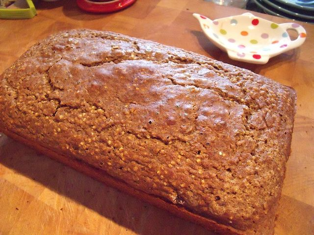 Quinoa and Flax Seed Gluten Free Bread (meghan telpner raves about this bread)