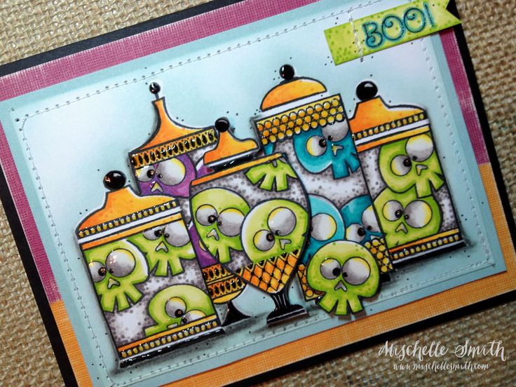 http://www.mischellesmith.com/blog/160-happy-haunted-boo-twin-touched, ctmh, Close To My Heart, Halloween, skulls, twin touch markers, alcohol markers, copic, cards, how to, tutorial, monochromatic