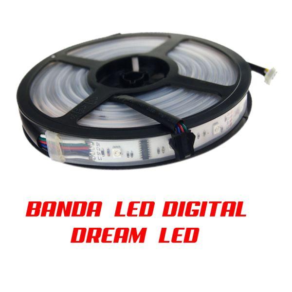Banda LED DIGITALA 6803ic  dream LED sau magic LED este cea mai noua si revolutionara banda cu led , de la ledia.ro