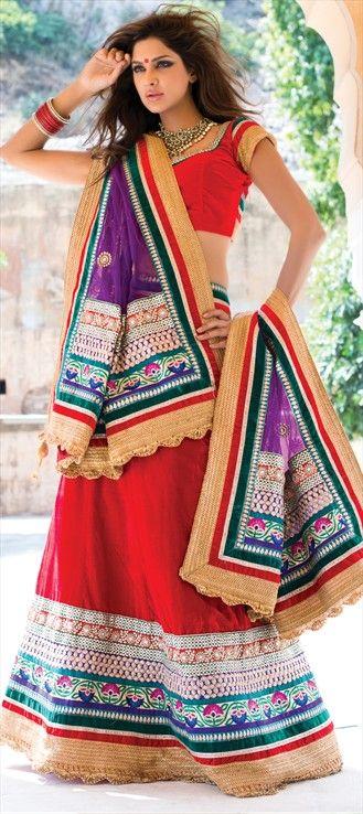 107042:  #SonamKapoor wore #ManishMalhotra's red lehenga at #Colgate Visibly White launch. This is similar to that lehenga.