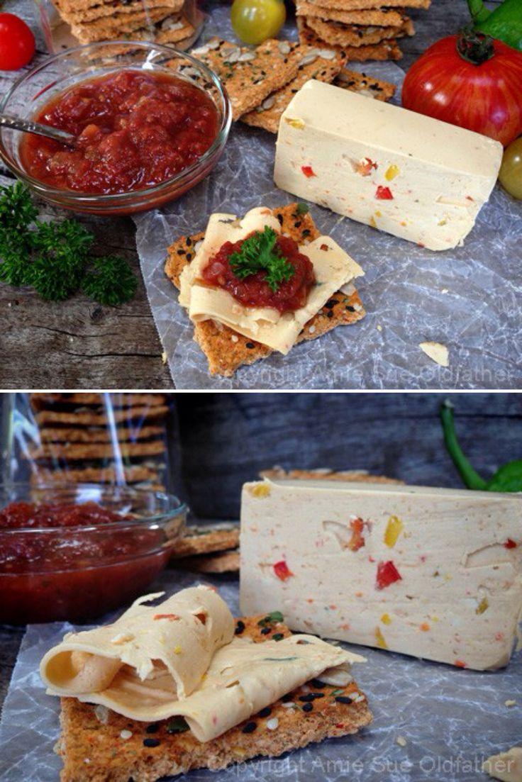 Vegan Pepper Jack Cheese - homemade vegan cheese. #vegan #dairyfree #cashews