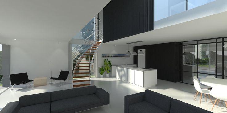ontwerp van interieur van nieuwbouwvilla van USE architects