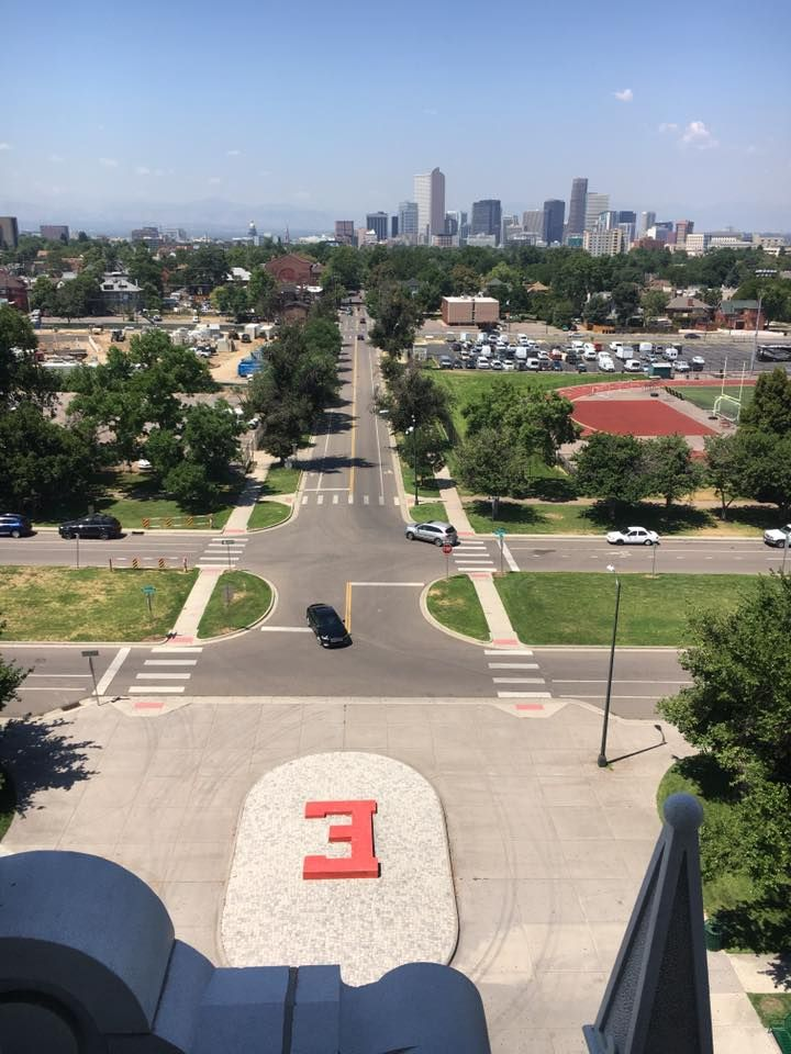 Denver East High School - photo taken from tower July 2016