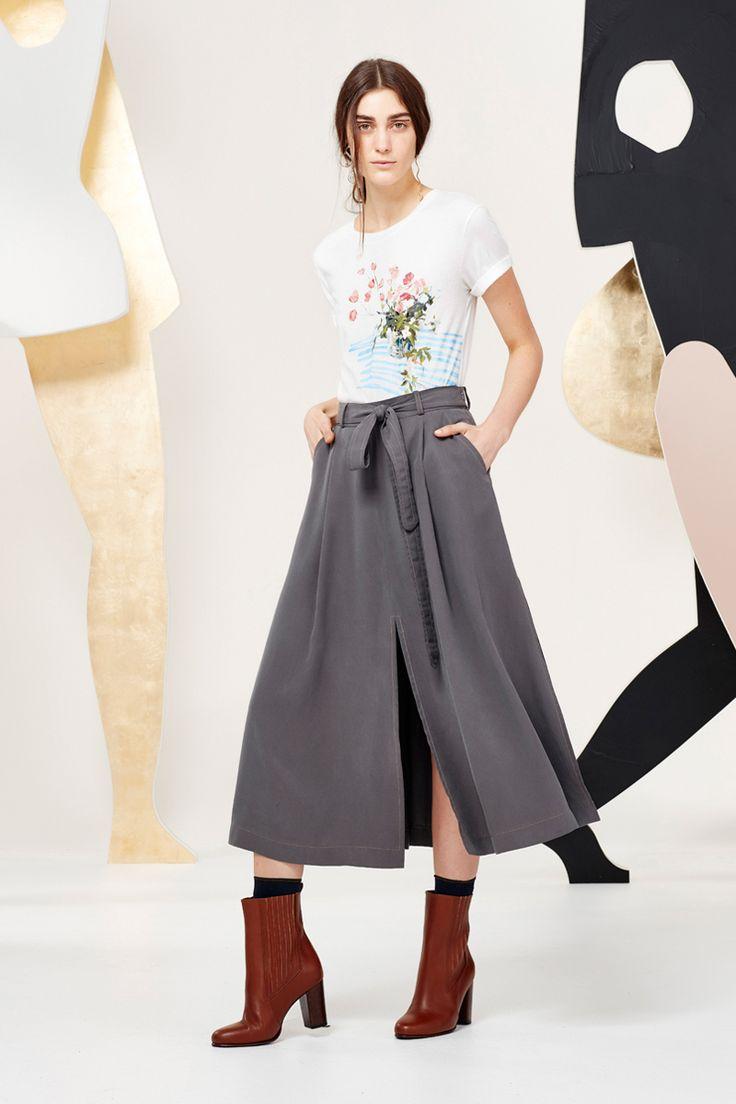 Kate Sylvester - A Muse: Laura T-shirt, Alba skirt, KS socks