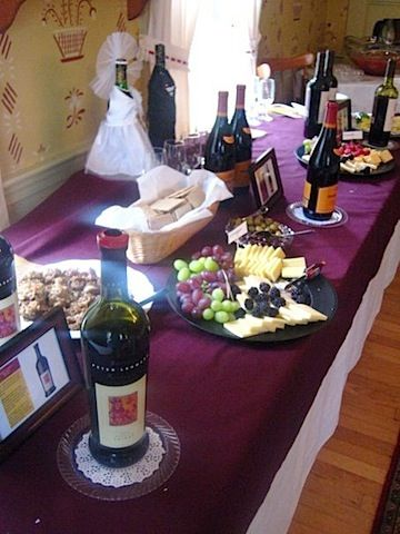 vineyard bridal shower ideas | At the shower, guests sampled three different red wines and three ...