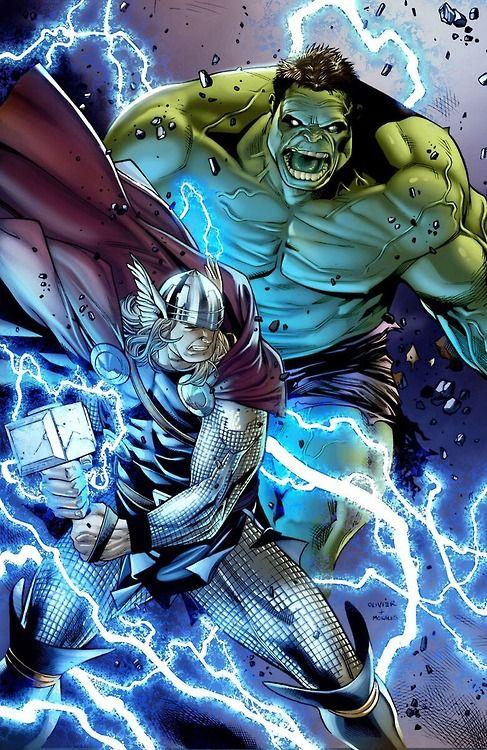 Thor vs. The Hulk by Olivier Coipel