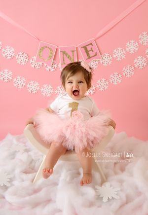 """Winter Baby"" themed first birthday"
