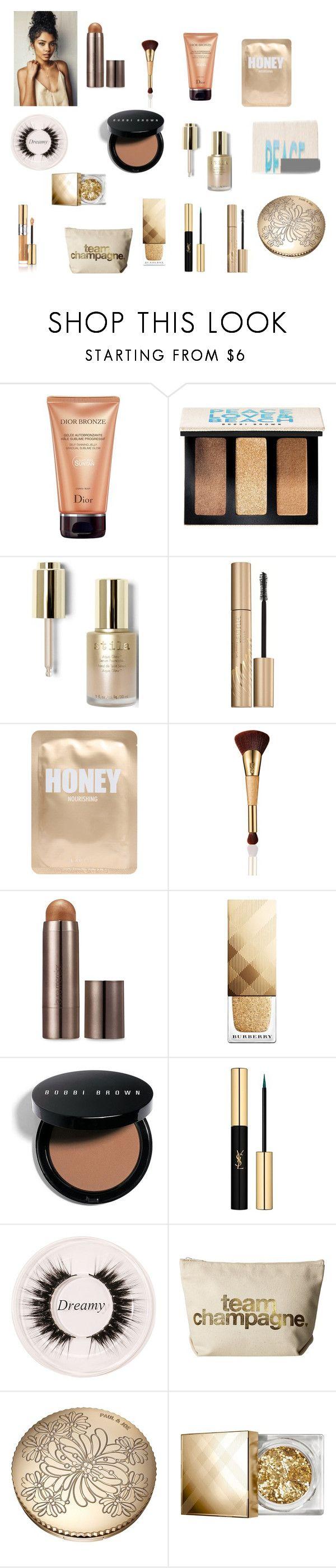 """Golden Lady"" by krystiab on Polyvore featuring beauty, Christian Dior, Bobbi Brown Cosmetics, Stila, Lapcos, tarte, Laura Mercier, Burberry, Yves Saint Laurent and Certifeye"