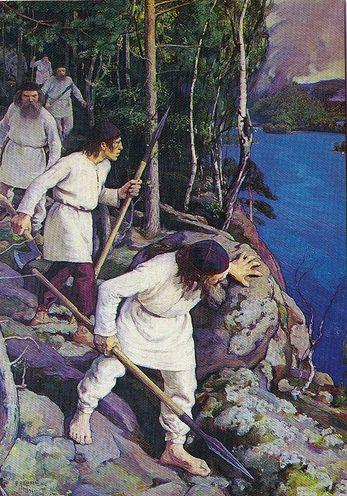 Pekka Halonen (1865-1933) Vainolaisia vastaan (Leaving for War), 1896 Oil on canvas Pohjola Society Collection